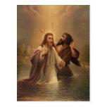 The Baptism of Christ by James Fuller Queen 1873 Post Card