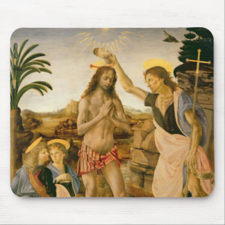 The Baptism of Christ by John the Baptist Mouse Pad
