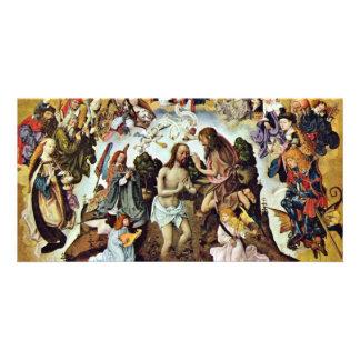 The Baptism Of Christ By Meister Des Bartholomäusa Personalised Photo Card