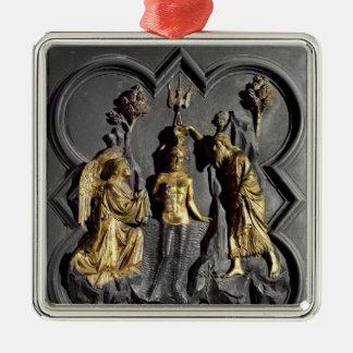 The Baptism of Christ, panel Christmas Ornament