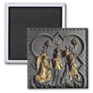 The Baptism of Christ, panel Square Magnet