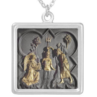 The Baptism of Christ, panel Silver Plated Necklace