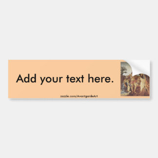 The Baptism of Christ (Verrocchio) Bumper Sticker
