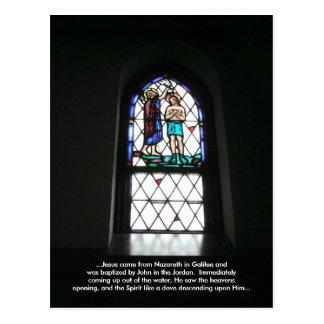 The Baptism of Jesus (Meditation Card) Postcard