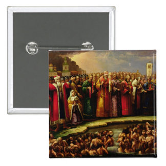 The Baptism of the Murom people 15 Cm Square Badge