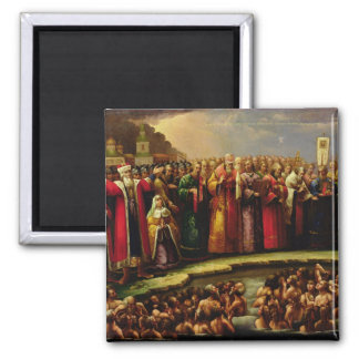 The Baptism of the Murom people Square Magnet