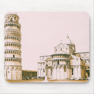 The Baptistry of St John and Leaning Tower Of Pisa Mouse Pad