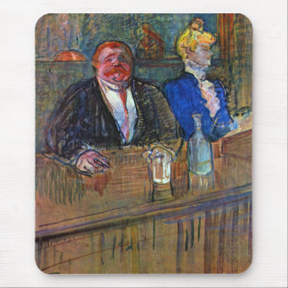 The bar by Toulouse-Lautrec Mouse Pads