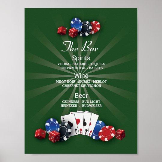 The Bar Event Sign Casino Vegas Reception
