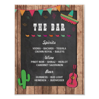 The Bar Fiesta Party Event Sign Engagement Shower