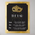 The Bar Masquerade Poster Sign Wedding Reception