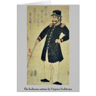 The barbarian nations by Utagawa,Yoshitsuya Note Card