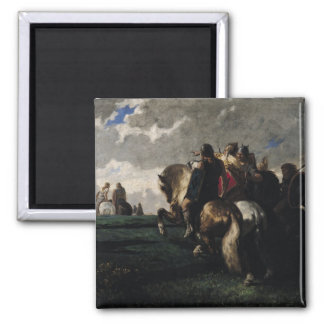 The Barbarians Before Rome Square Magnet