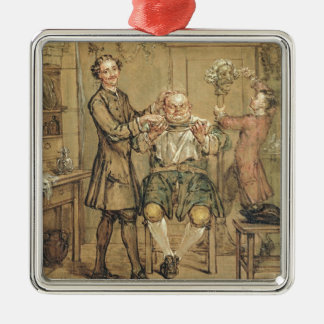The Barber, c.1760-69 (oil on canvas) Christmas Ornament