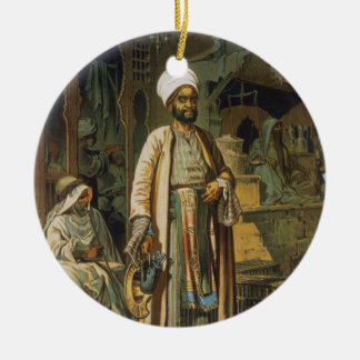 The Barber, from 'Souvenir of Cairo', 1862 (litho) Christmas Ornament