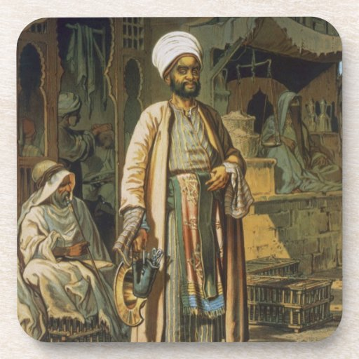 The Barber, from 'Souvenir of Cairo', 1862 (litho) Coaster