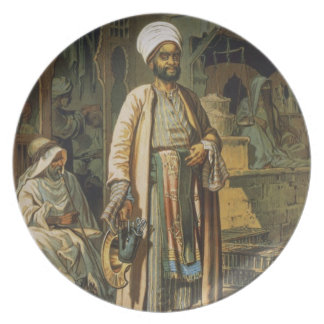 The Barber, from 'Souvenir of Cairo', 1862 (litho) Party Plates