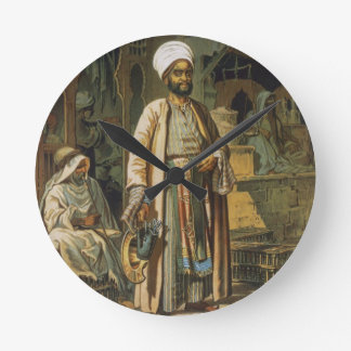 The Barber, from 'Souvenir of Cairo', 1862 (litho) Round Clock