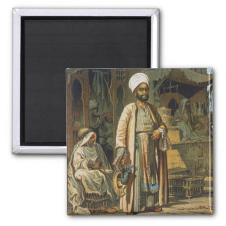 The Barber, from 'Souvenir of Cairo', 1862 (litho) Square Magnet