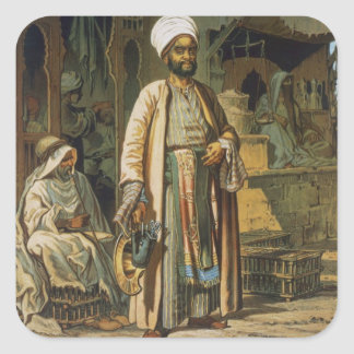The Barber, from 'Souvenir of Cairo', 1862 (litho) Square Sticker