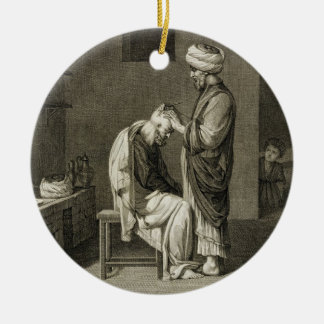 The Barber, from Volume II Arts and Trades of 'Des Christmas Ornament