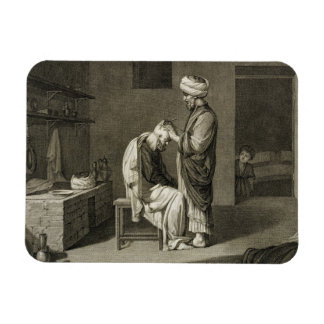 The Barber, from Volume II Arts and Trades of 'Des Rectangular Photo Magnet
