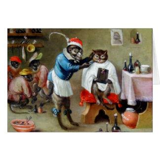 The Barber Monkey Card