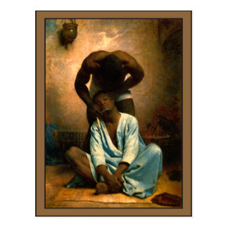 The Barber of Suez by Leon Bonnat Postcard