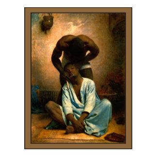 The Barber of Suez by Leon Bonnat Postcard