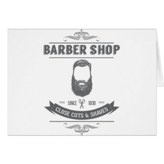 The barber shop card