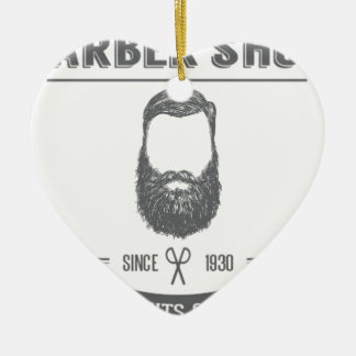 The barber shop christmas ornament