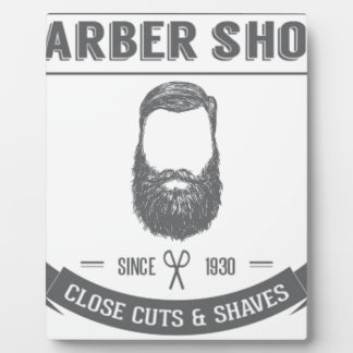 The barber shop plaque