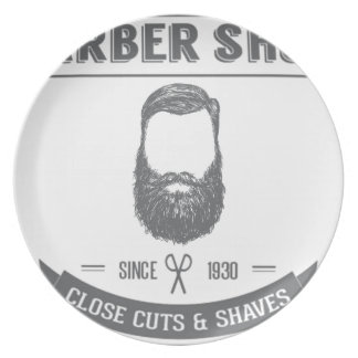 The barber shop plate