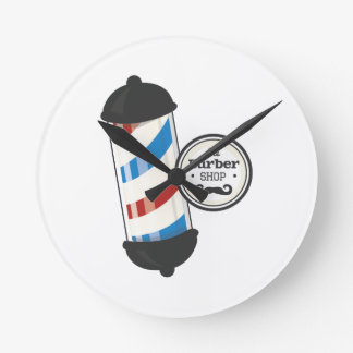 The Barber Shop Round Clock