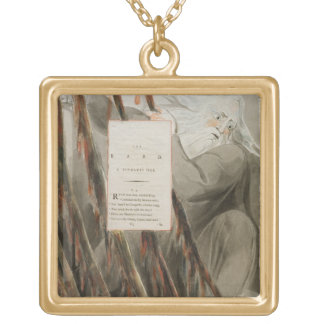 The Bard: A Pindaric Ode, from 'The Poems of Thoma Square Pendant Necklace