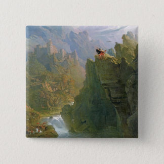 The Bard, c.1817 (oil on canvas) 15 Cm Square Badge
