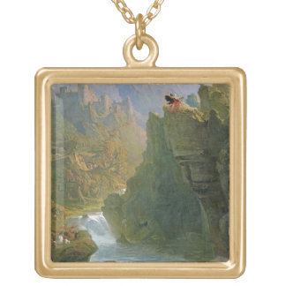 The Bard, c.1817 (oil on canvas) Square Pendant Necklace