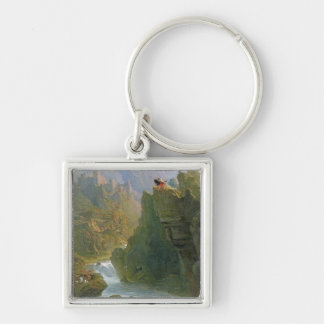The Bard, c.1817 (oil on canvas) Silver-Colored Square Key Ring