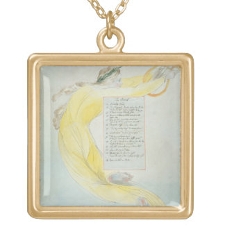 'The Bard', design 52 from 'The Poems of Thomas Gr Gold Plated Necklace
