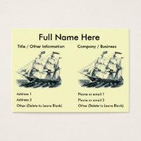 Bookmark business cards business card printing zazzle uk standard sized business cards the bark florida sailing ship bookmark colourmoves