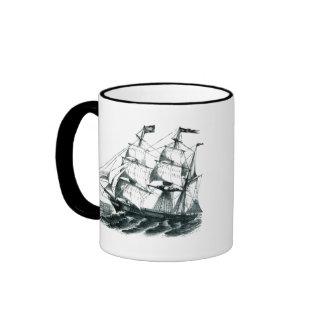 "The Bark ""Florida"" Sailing Ship Bookmark Ringer Mug"