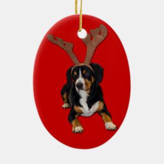 The Barking Reindeer - Entlebucher Christmas Love Christmas Ornament