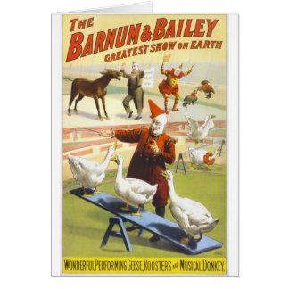 The Barnum & Bailey Circus Card