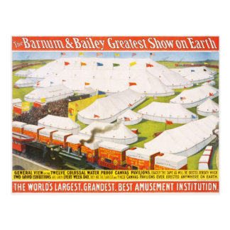 The Barnum & Bailey Greatest Show On Earth Postcard