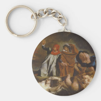 The Barque of Dante Basic Round Button Key Ring