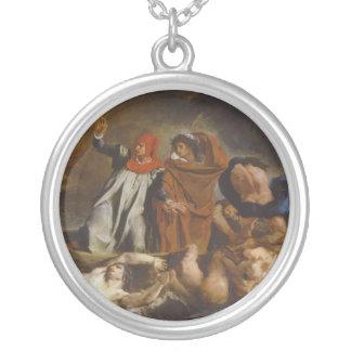 The Barque of Dante Round Pendant Necklace