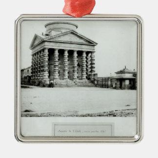 The Barriere de l'Etoile, Paris, 1858-78 Silver-Colored Square Decoration