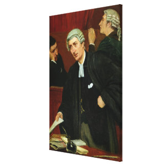 The Barrister Canvas Print