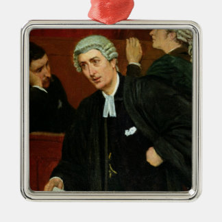 The Barrister Silver-Colored Square Decoration