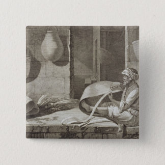The Basket Maker, from Volume II Arts and Trades o 15 Cm Square Badge